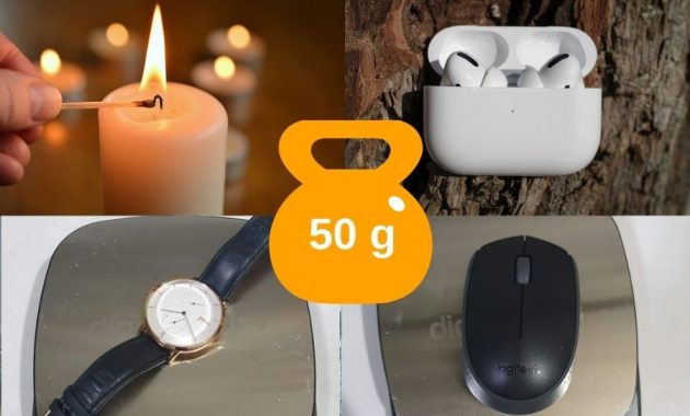 Common Items That Weigh About 50 Grams Pictures
